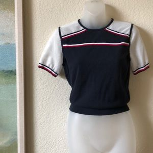 TOMMY HILFIGER Crop Sweater Top Mesh Small EUC